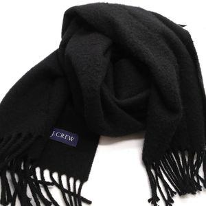 "J Crew black fleece scarf 62"" x 12"""